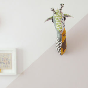 Personalised Memento Giraffe Trophy Head - children's room