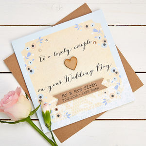 Wedding Card Personalised