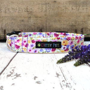Blossom Floral Dog Collar - more