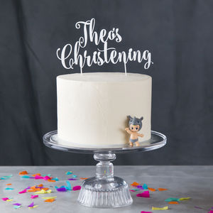 Personalised Christening Cake Topper - cake decorations & toppers