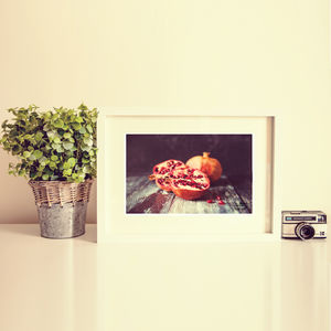 Pomegranate Still Life Food Photography Art Print