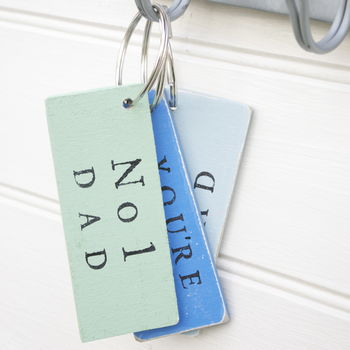 Fathers Double Sided Keyring