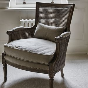 Marlborough Bergere Chair With Linen Cushions - furniture