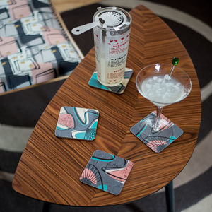 Boxed Set Of Midcentury 'Monterey' Coasters