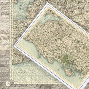 Antique Map Puzzle Hampshire, Somerset And Dorset