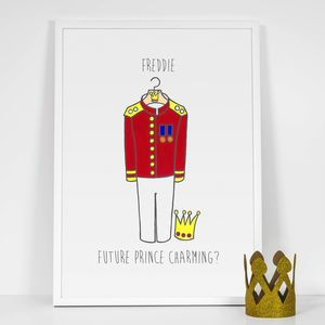 Personalised 'Future Prince Charming' Boy Print