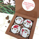 Christmas Gift Box Of Cute Penguin Chocolates