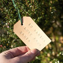 Personalised Leather Christmas Gift Tag