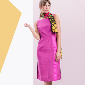 Greta Dress Fuchsia Pink - dresses
