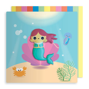 Jelly Magnet Mermaid Birthday Card