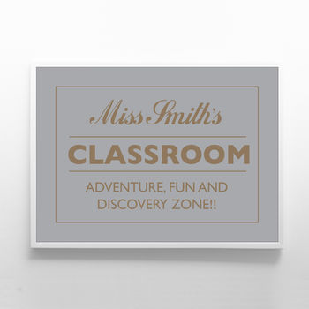 Personlised Teachers Print. Adventure Fun Discovery