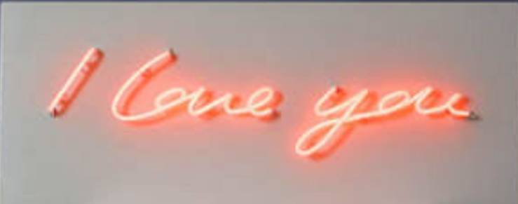 'I Love You' Neon Light Sign