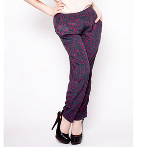 Relaxed Fit Silk Trousers - women's fashion