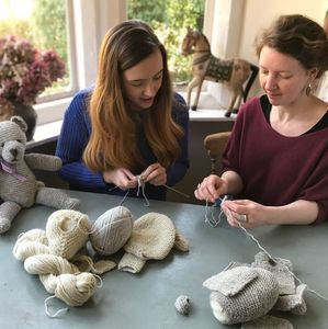 Cotswold Bear/Elephant Knitting Workshop And Cream Tea