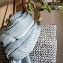 Understated Luxury,Linen Scarf - Flax