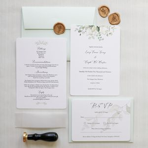 Botanica Eucalyptus Wedding Invitation Collection