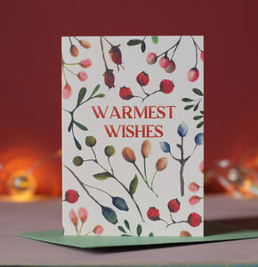 Warmest Wishes Botanical Christmas Cards