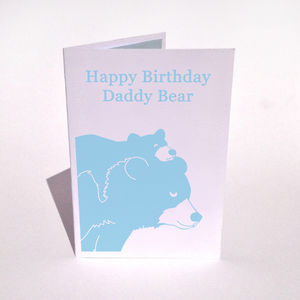 Personalised Bear And Cub Birthday Card