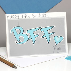 Personalised Acronym Bff Age Birthday Card