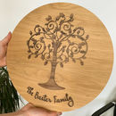 Personalised Floral Family Tree Plaque