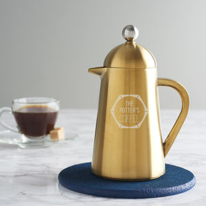 Personalised Faceted Gold Coffee Pot - cafetieres & coffee pots