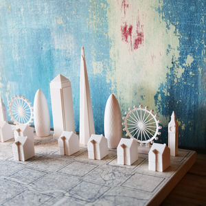 Skyline Chess Set With London Map Board - living & decorating