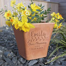 Personalised Engraved Birthday Plant pot