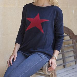 Star Cashmere Jumper - women's fashion