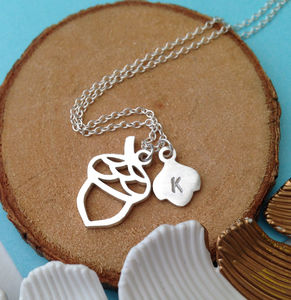 Family Acorn Necklace - summer sale