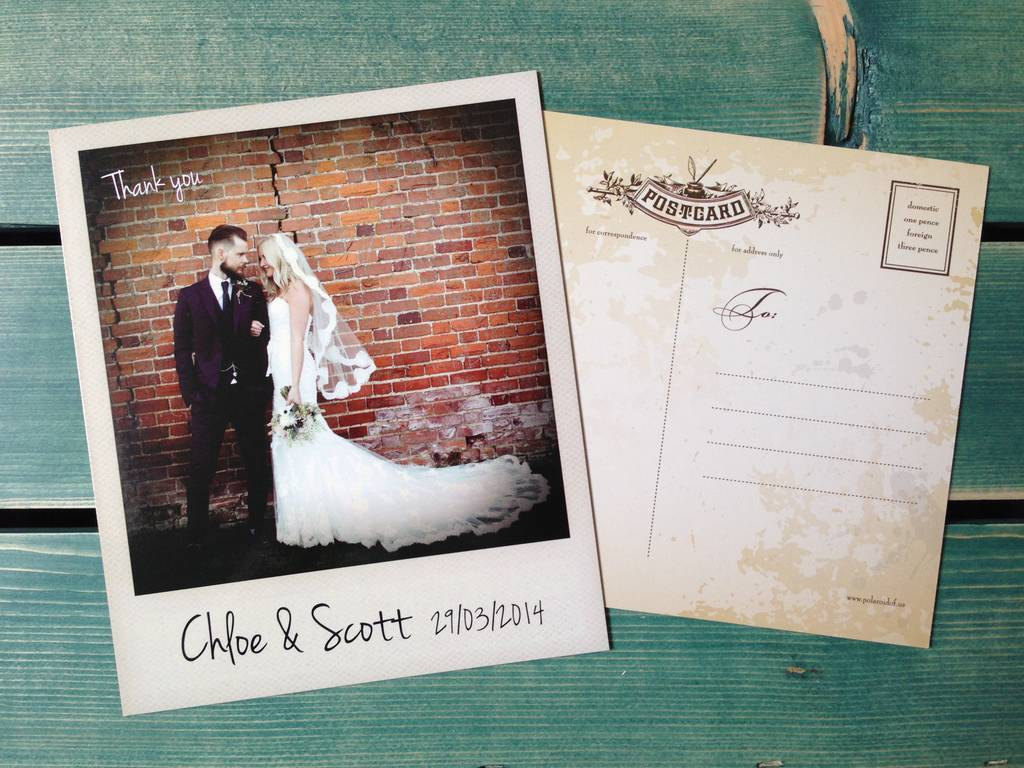 Wedding Thank You Cards With Photo Insert Fitbo Wpart Co