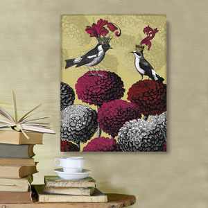 Blooming Birds, Chrysanthemum Two