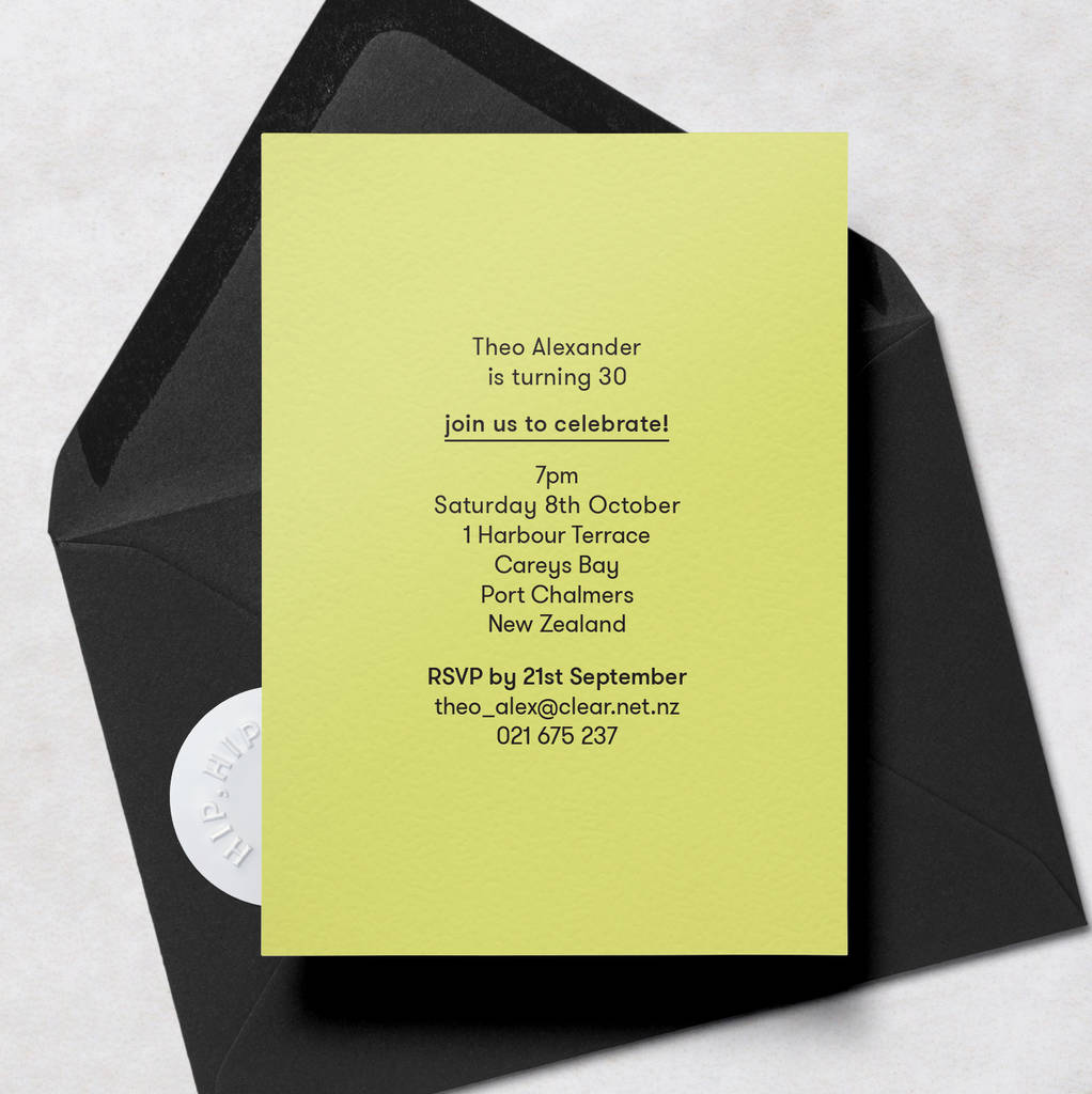 Modern minimal 30th birthday invitations with envelope by crumco modern minimal 30th birthday invitations with envelope stopboris Image collections