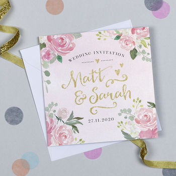 'Blooming Lovely' Wedding Invitation