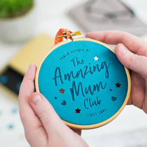 Amazing Mum Club Personalised Velvet Decoration