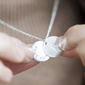 Hidden Message Sterling Silver Disc Necklace