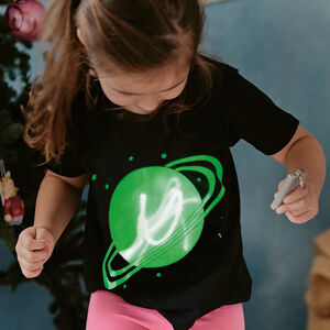 Solar Glow In The Dark Interactive Kids T Shirt