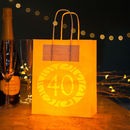 40th Birthday Party Bags Lanterns With Vellum