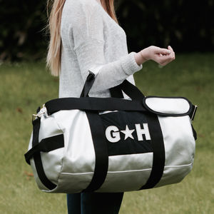 Personalised Silver Holdall For Girls - new in fashion