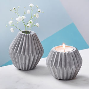 Concrete Candle And Tea Light Holders