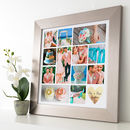 Personalised Metallic Gold Heart Photo Collage