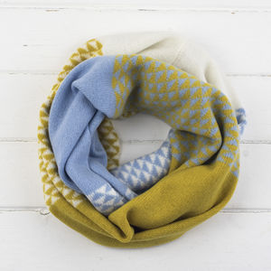 Triangle Knitted Circle Scarf In Piccalilli