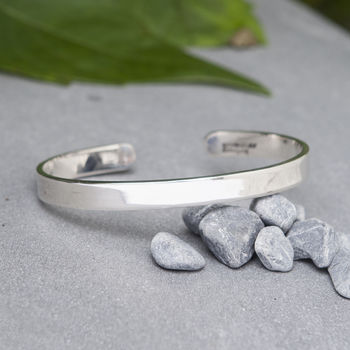 Personalised Men's Silver Cuff