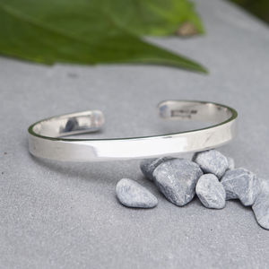 Personalised Men's Silver Cuff - bracelets