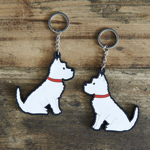 Westie Key Ring - keyrings
