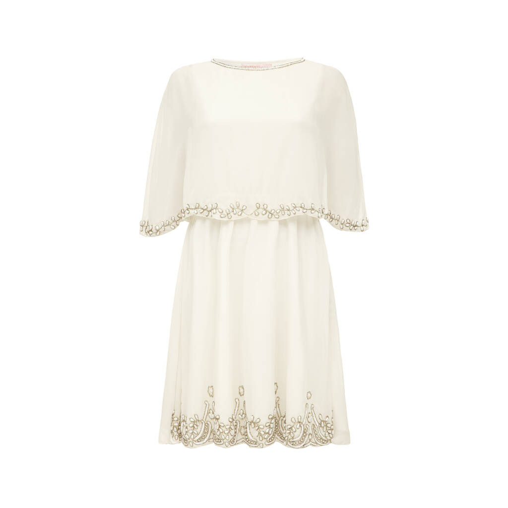 Gloria Vintage Inspired Wedding Capelet Dress By