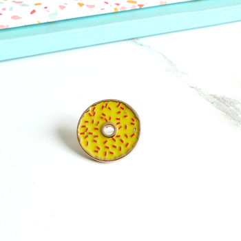 Doughnut Enamel Pin Badge