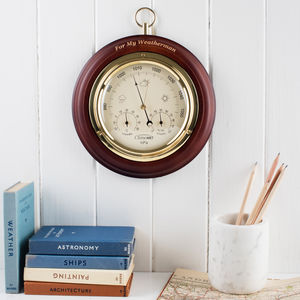 Personalised Wooden Weather Forecast Dial - clocks