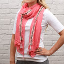 Personalised Embellished Tassel Trim Scarf