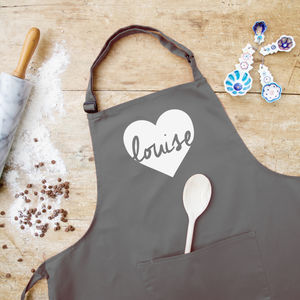 Personalised Heart Apron