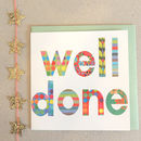 Sparkly Well Done Card